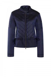 Blaue, taillierte Shelljacke Zipp-Taschen um € 369,–