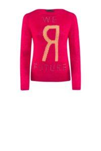 Pinkfarbener Pullover mit Print um € 279,–