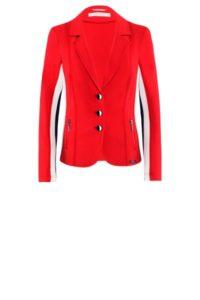 Roter Stretch-Blazer mit Streifen um € 359,–