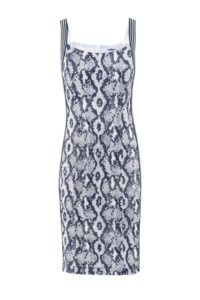 Midi-Kleid mit Schlangenprint um € 349,–