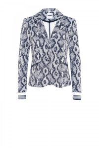 Snake-Print Blazer mit Streifen-Bündchen um € 379,–