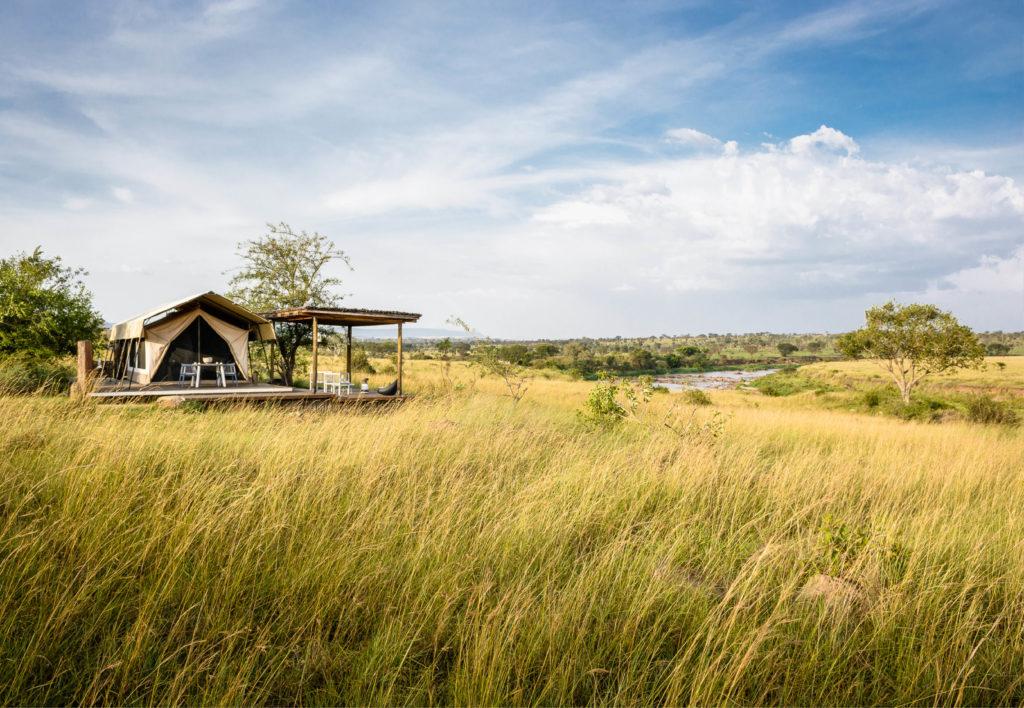 Glamping im Singita Mara River Tented Camp
