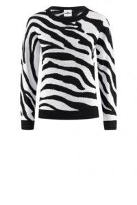 Strick-Pullover mit Zebramuster um € 349,–