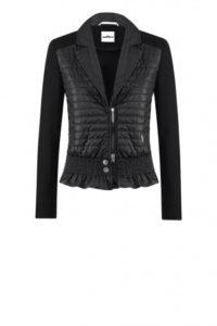Schwarze Jacke mit sportlichen Volants um € 399,–