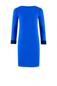 Klassisch-elegantes Kleid in Electric-Blue um € 349,–