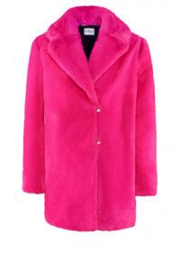 Pinker Fake-Fur Mantel um € 479,–