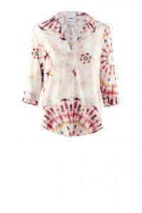 Party-Look: Batik-Bluse mit 3/4 Ärmeln um € 229,–