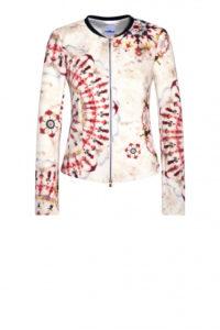 Der schönste Party-Look für die Festtage von AIRFIELD. Kurze Jacke mit buntem Batik-Print um € 369,–